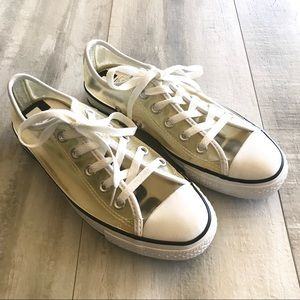 Converse All Star Clear Sneakers White Black Trim